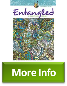 Described Creative Haven Entangled Coloring Book Books